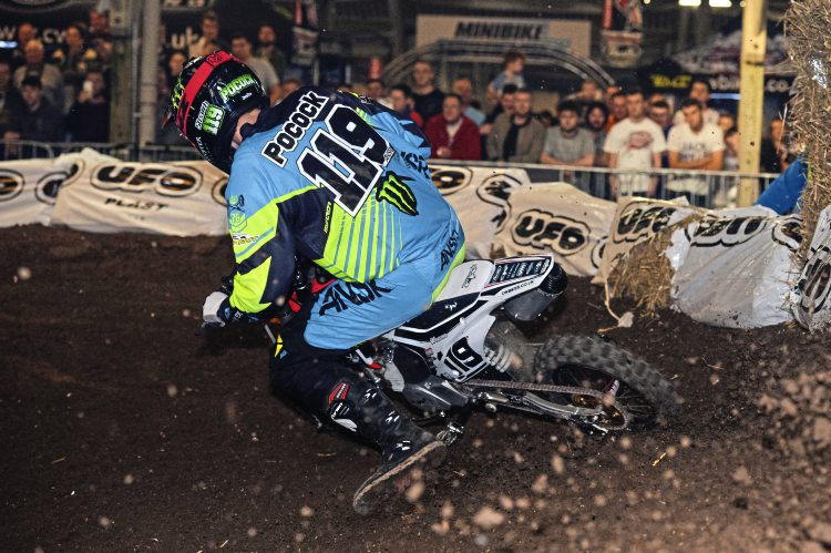 Mel Pocock resumed his racing career with the Minibike Supercross. Image credit Harry Lessman